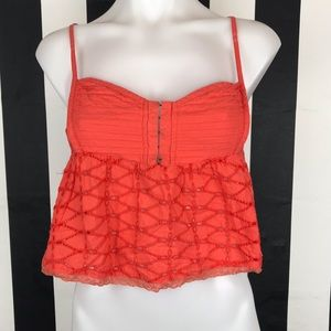 5 for $25 O'Neill Orange Eyelet Crop Top